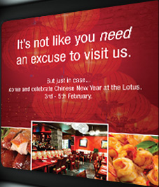 Red Lotus Restaurant - Brisbane. Graphic and Website Design