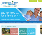 Korora Bay Village web design - www.kororabayvillage.com.au