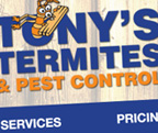 Tony's Termites and Pest Control website