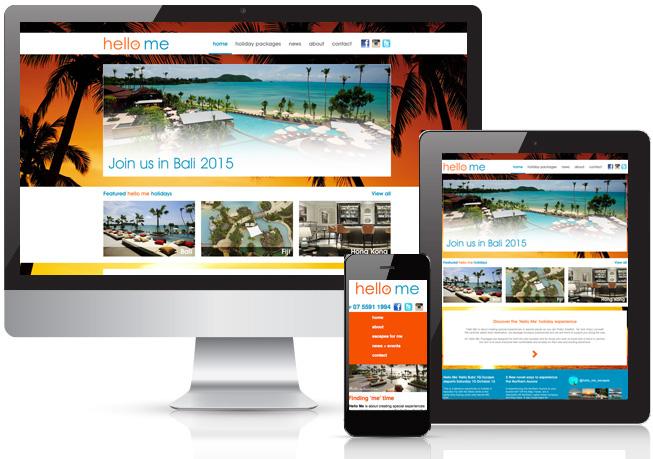 Hello Me Travel Website Design – QLD