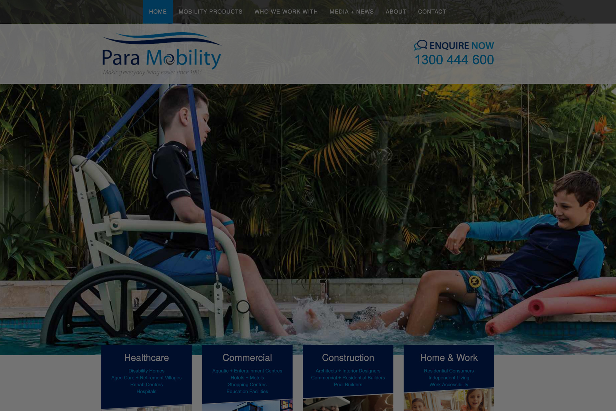 Paramobility website and corporate rebrand