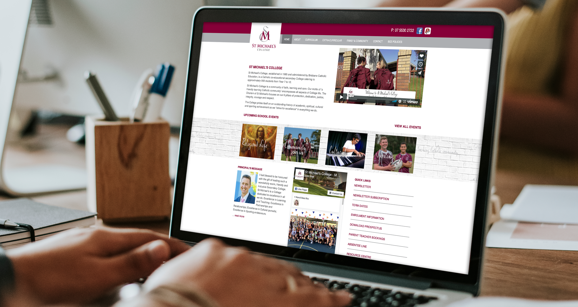 St Michael's College Custom Website - stmichaels.qld.edu.au