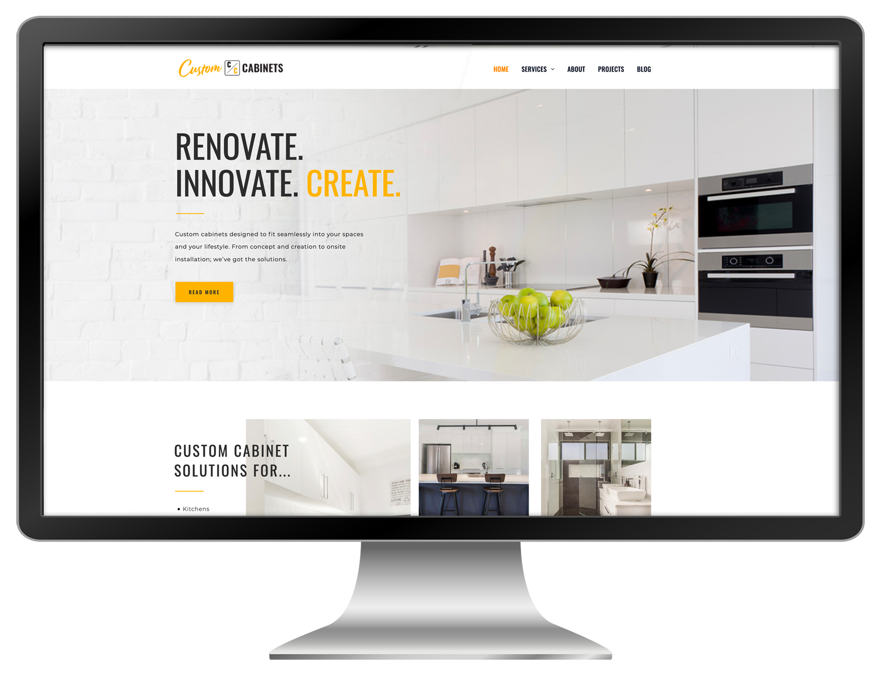 Website Design Custom Cabinets