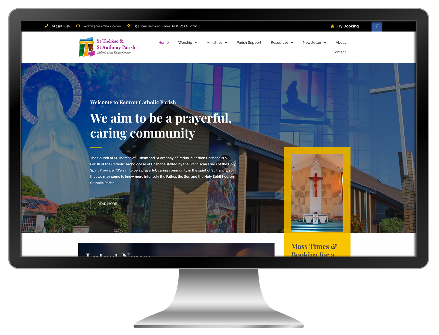 kedron-parish-website-design
